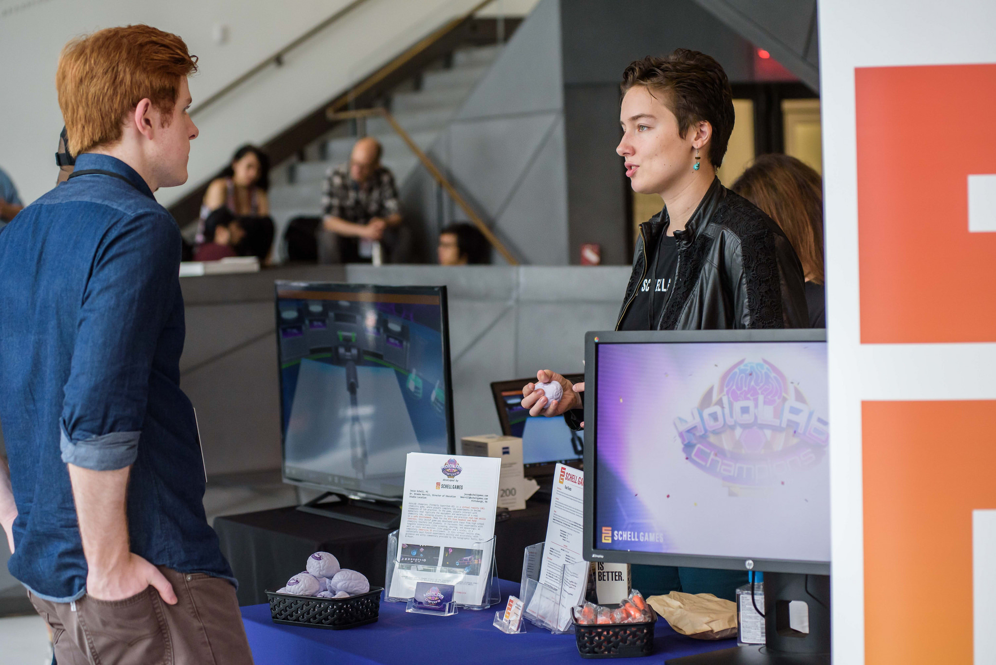 Marlena talks to G4 C attendee about Holo LAB
