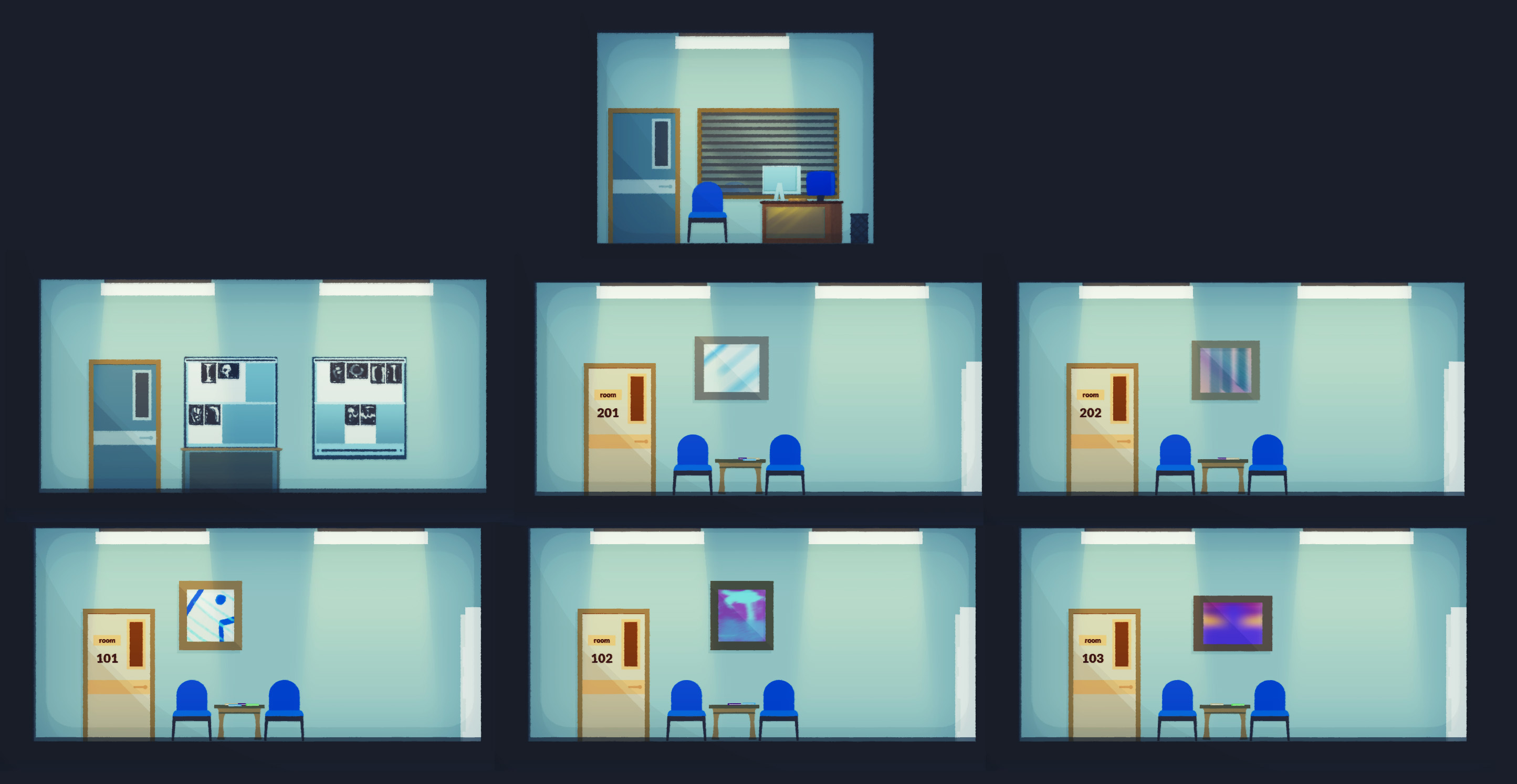 Solo Hospital Rooms 00